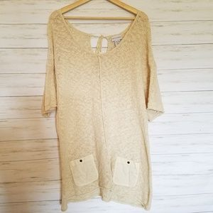 Soft Surroundings knit tunic with pockets size XL